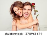 Cheerful Young Couple In Love...