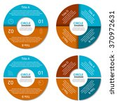 set of circle diagram. business ...   Shutterstock .eps vector #370972631