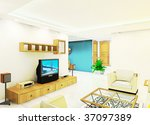 a living room illustration... | Shutterstock . vector #37097389