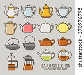 Teapot Lined Icons Collection....