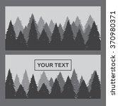 pine forest horizontal banner... | Shutterstock . vector #370980371