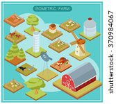 isometric farm icon set | Shutterstock .eps vector #370984067