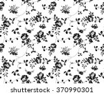 Stock vector seamless black and white floral pattern 370990301
