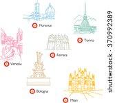 Italy Cities Icons. Milano ...
