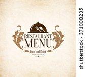 restaurant menu design. vector... | Shutterstock .eps vector #371008235