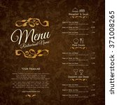 restaurant menu design. vector... | Shutterstock .eps vector #371008265