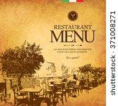 restaurant menu design. vector...   Shutterstock .eps vector #371008271