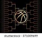 a golden basketball icon over a ... | Shutterstock .eps vector #371009699