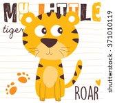 cute little tiger vector... | Shutterstock .eps vector #371010119