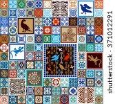 mega set of ceramic tiles with... | Shutterstock .eps vector #371012291