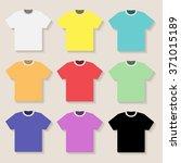illustration of tshirt on a... | Shutterstock .eps vector #371015189