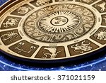 astrological plate with all... | Shutterstock . vector #371021159