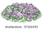 Pile of Money. Financial Success Concept - stock photo