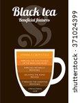 black tea  properties and... | Shutterstock .eps vector #371024399
