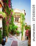 beautiful old town street of...   Shutterstock . vector #371030105