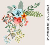 vector design with hand drawn... | Shutterstock .eps vector #371032535