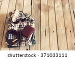 vintage plaid shirt jean wallet ... | Shutterstock . vector #371033111