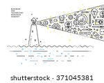 flat style  thin line art... | Shutterstock .eps vector #371045381