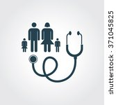 blue colored icon of family...   Shutterstock .eps vector #371045825