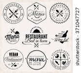 black restaurant menu badges... | Shutterstock .eps vector #371047727