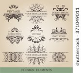 vector set  calligraphic design ... | Shutterstock .eps vector #371049011