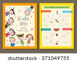 cute colorful kids meal menu... | Shutterstock .eps vector #371049755