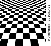 vanishing checkered surface. 3d ... | Shutterstock .eps vector #371051411