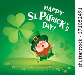 happy saint patricks day ... | Shutterstock .eps vector #371052491
