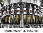 bottle filling wine bottles... | Shutterstock . vector #371052701