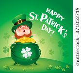 happy saint patricks day ... | Shutterstock .eps vector #371052719