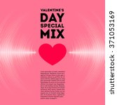 valentine's day card with pink... | Shutterstock .eps vector #371053169