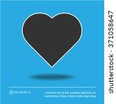 heart shape vector icon eps 10. ...   Shutterstock .eps vector #371058647