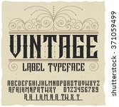 vintage label typeface  with... | Shutterstock .eps vector #371059499