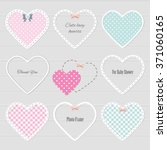 Cute lacy hearts set. Girly scrapbook design. Valentine's day stickers.