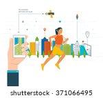 vector mobile phone   fitness...   Shutterstock .eps vector #371066495