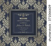 wedding invitation cards ... | Shutterstock .eps vector #371066609