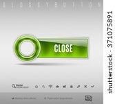 green modern plastic button... | Shutterstock .eps vector #371075891