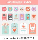 collection of valentines day...   Shutterstock .eps vector #371082311