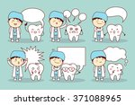 Cartoon Tooth And Dentist With...