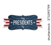 happy presidents day retro... | Shutterstock .eps vector #371095799