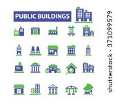 buildings  houses  icons  signs ... | Shutterstock .eps vector #371099579