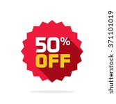 sale tag vector badge template  ... | Shutterstock .eps vector #371101019