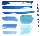 set of watercolor stain. spots... | Shutterstock . vector #371102729