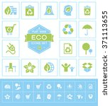 set eco icons for web and mobile | Shutterstock .eps vector #371113655