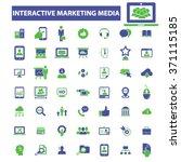 interactive marketing  market... | Shutterstock .eps vector #371115185