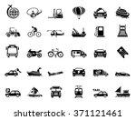 transport icons | Shutterstock .eps vector #371121461
