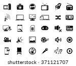 multimedia icons | Shutterstock .eps vector #371121707