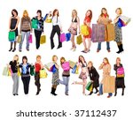 17 girls group | Shutterstock . vector #37112437