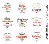 set of happy valentines day... | Shutterstock .eps vector #371140607