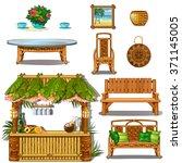 furniture for outdoor bars.... | Shutterstock .eps vector #371145005